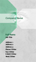 Green and Grey Security Business Card Template